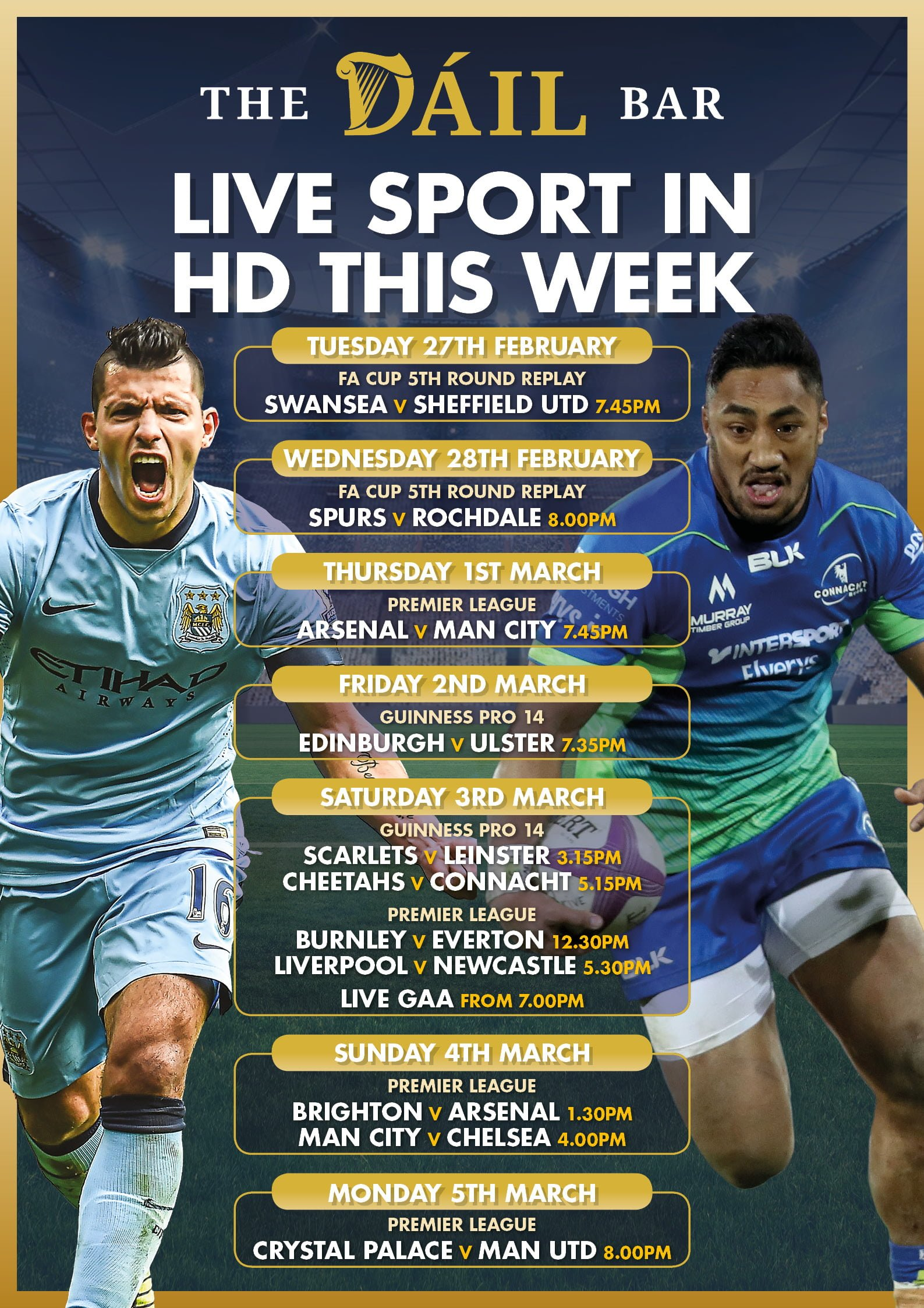 DB Sports Posters - WE Mon 05 March 18 - FACEBOOK - The Dail Bar