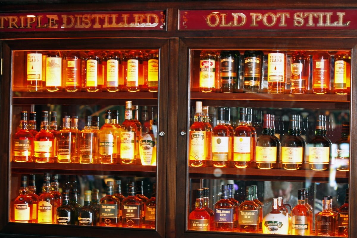 whiskey selection the dail bar